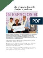 25-11-2013 Puebla on Line - Moreno Valle Promueve Desarrollo Integral de Las Juntas Auxiliares