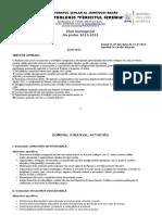 Plan Managerial 2013-2014 Lt Fericitul Ieremia