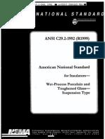 ANSI C29.2 - Aislador Suspension