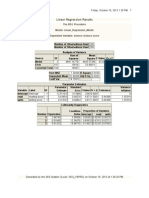 SAS Report - Linear Regression1
