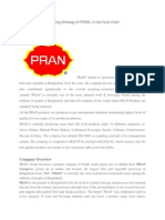 Term-Paper on Marketing Strategy of PRAN, A Fast Food Chain