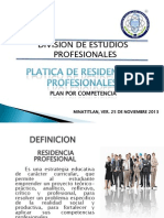 Platica de Residencias Plan x Competencias