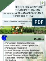 Inovasi Teknologi Adaptasi Dan Mitigasi Perubahan Iklim Pada Tanaman Pangan & Hortikultura