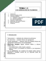 Tema 1.3 MM.AA., PP. y CC. 13'14_Estados de agregación de polímeros+problemas_2pp_