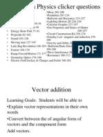 Loeblein Physics Clicker Questions