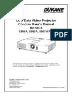 User Manual Dukane 8957,8958, 8959