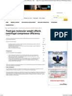 Feed-Gas Molecular Weight Affects Centrifugal Compressor Efficiency