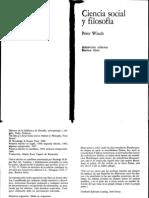 Winch - Ciencia social y filosofía.pdf