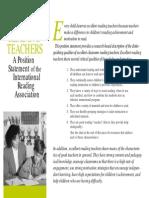 excellent reading teachers position statement