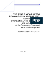 The TYNE and WEAR METRO Renovation in August 2013