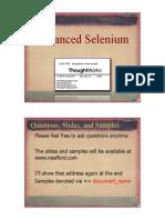 Neal Ford Advanced Selenium Handouts