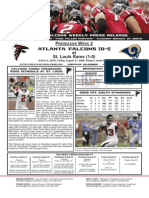 Atlanta Falcons vs. St. Louis Rams Preseason Game 2