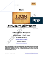 Software Project Management Notes for MCA Semester 3