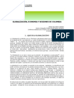 Globalización, economía y regiones de Colombia