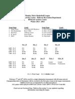 Monday Night League Winter 2013-2014 (1)