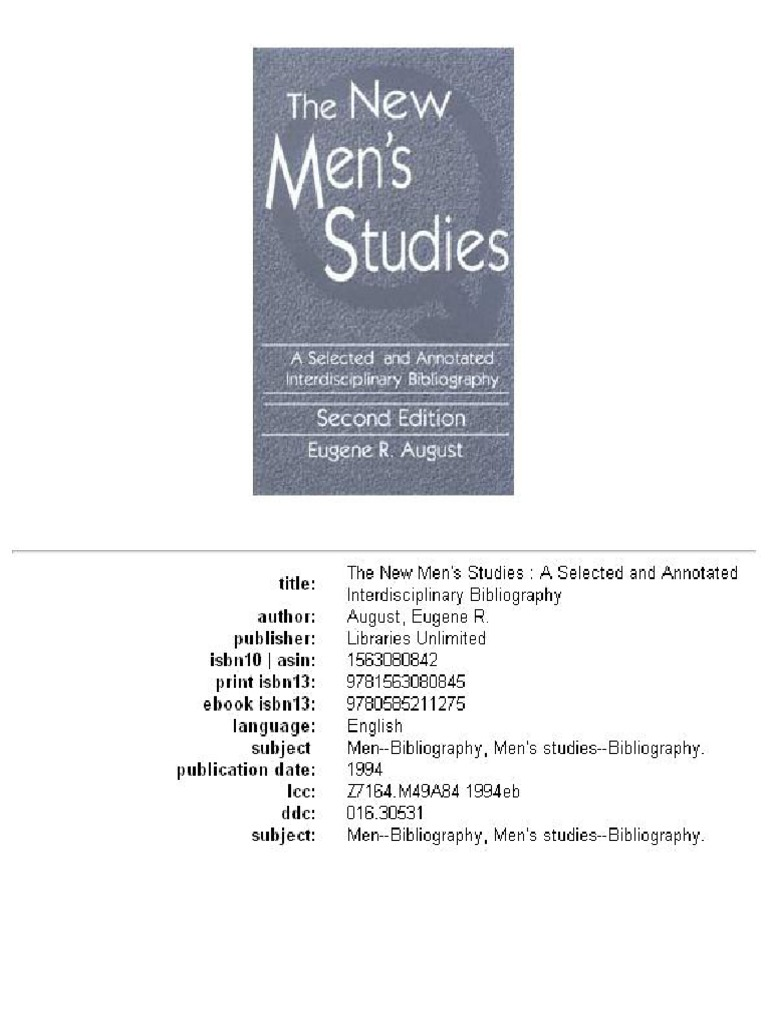 The new mens studies misandry masculinity fandeluxe Choice Image