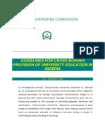 Guideline for Cross Border Education