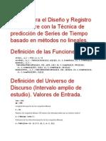 Software implementación de técnica de forecasting no lineal
