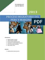 Proceso Migratorio Del Peru y Marginalidad