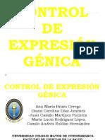 CONTROL DE EXPRESIÓN GÉNICA