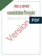Statuts Et Reglement Africa