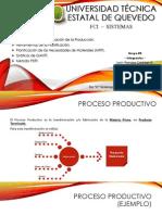 Proceso de Producción, Planificación