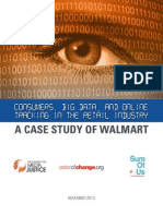 Walmart Privacy ReportConsumers, Big Data, and Online Tracking in the Retail Industry