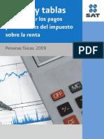Tablas y tarifas 2009.ISR PF