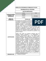 Perfil - Tecnólogo Gestión Empresarial
