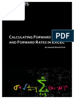 Calculating Forward Prices Forward Rates in EXCEL