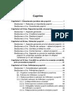 Poprirea in Noul Cod de Procedura Civila Cuprins