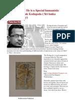 Prabhakaran - He is a Special Humanistic Character - Tilak Kodagoda ( Sri Lanka Vanguard Party)