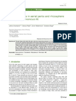 Trace Elements in Aerial Parts and Rhizosphere of Thymus Pannonicus All