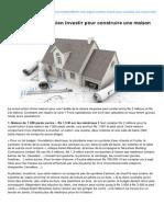 03.08.13 - Combien Investir Pour Construire Une Maison