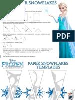 Frozen Paper Snowflakes