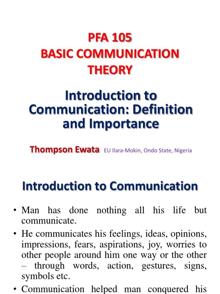 importance of communication to man