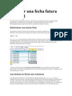 Calcular Una Fecha Futura en Excel