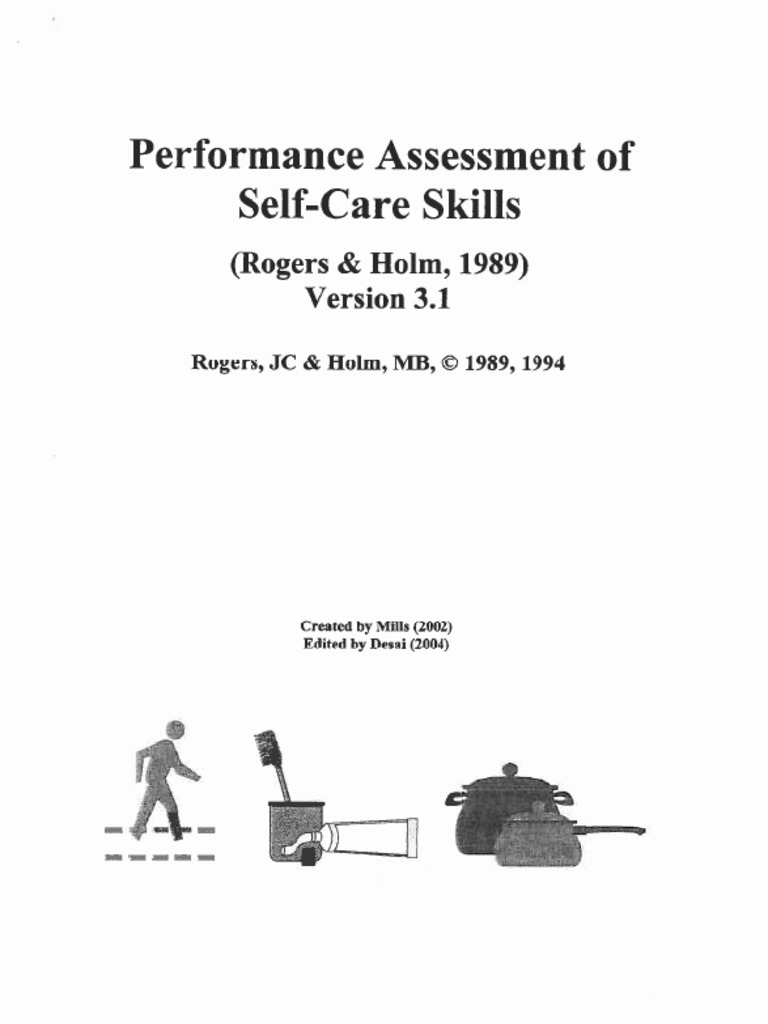 PASS Performance Assessment of Selfcare Skills – Self Care Assessment