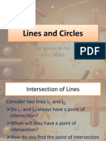 Intersection of Lines and Circles