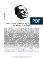 Adam Fairclough - Was Martin Luther King a Marxist?