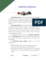 IT - Lesson 6 - International Transportation