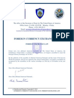 Foreign Currency Exchange Act, Foreign Exchange Law