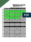 Calendário Insanity, Hip Hop ABS e Focus T25
