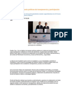 25-11-2013 Puebla Noticias - RMV y ONU impulsarán políticas de transparencia y participación ciudadana