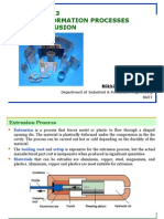 Bulk Deformation Processes Extrusion