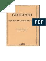 158586646 23 Estudios Escogidos Para Guitarra Mauro Giuliani