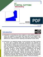 Theory of Metal Cutting-Tool Geometry