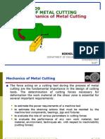 Theory of Metal Cutting-mechanics of Metal Cutting