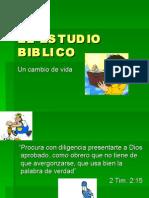 EL ESTUDIO BIBLICO