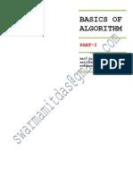 Basics of Algorithm